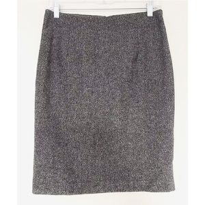 BANANA REPUBLIC Salt & Pepper Tweed Pencil Skirt